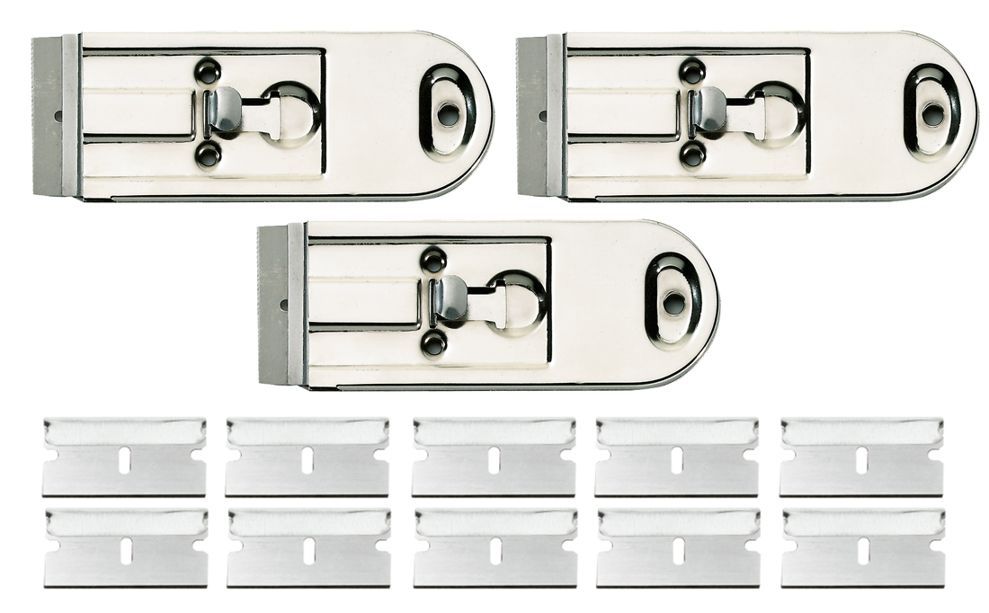3 x glasschaber 40mm metall ceranfeld kochfeld herd platte. Black Bedroom Furniture Sets. Home Design Ideas