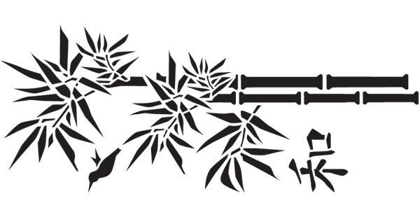 dekor schablone bambus xxl 33x70cm wandschablone. Black Bedroom Furniture Sets. Home Design Ideas