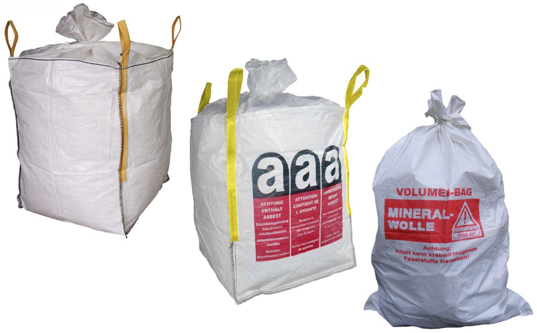 bigbag asbest standard mineralwolle entsorgung transport material sack bag ebay. Black Bedroom Furniture Sets. Home Design Ideas