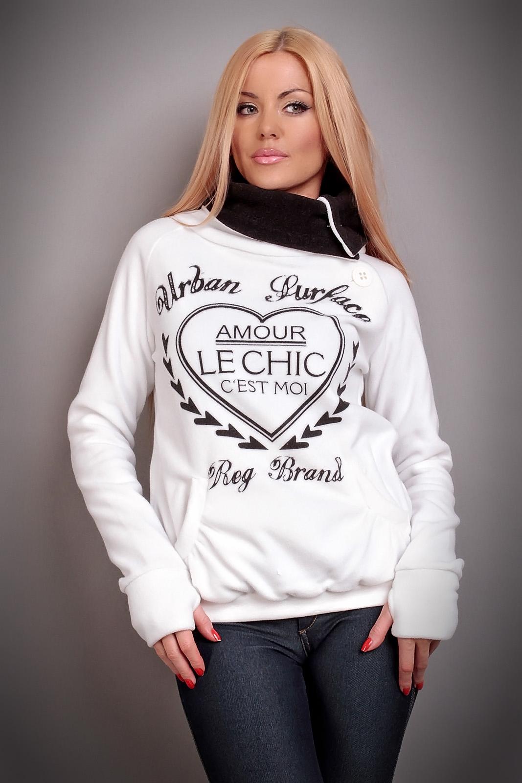 fleece pullover sweat mit hohem kragen 4 farben ebay. Black Bedroom Furniture Sets. Home Design Ideas