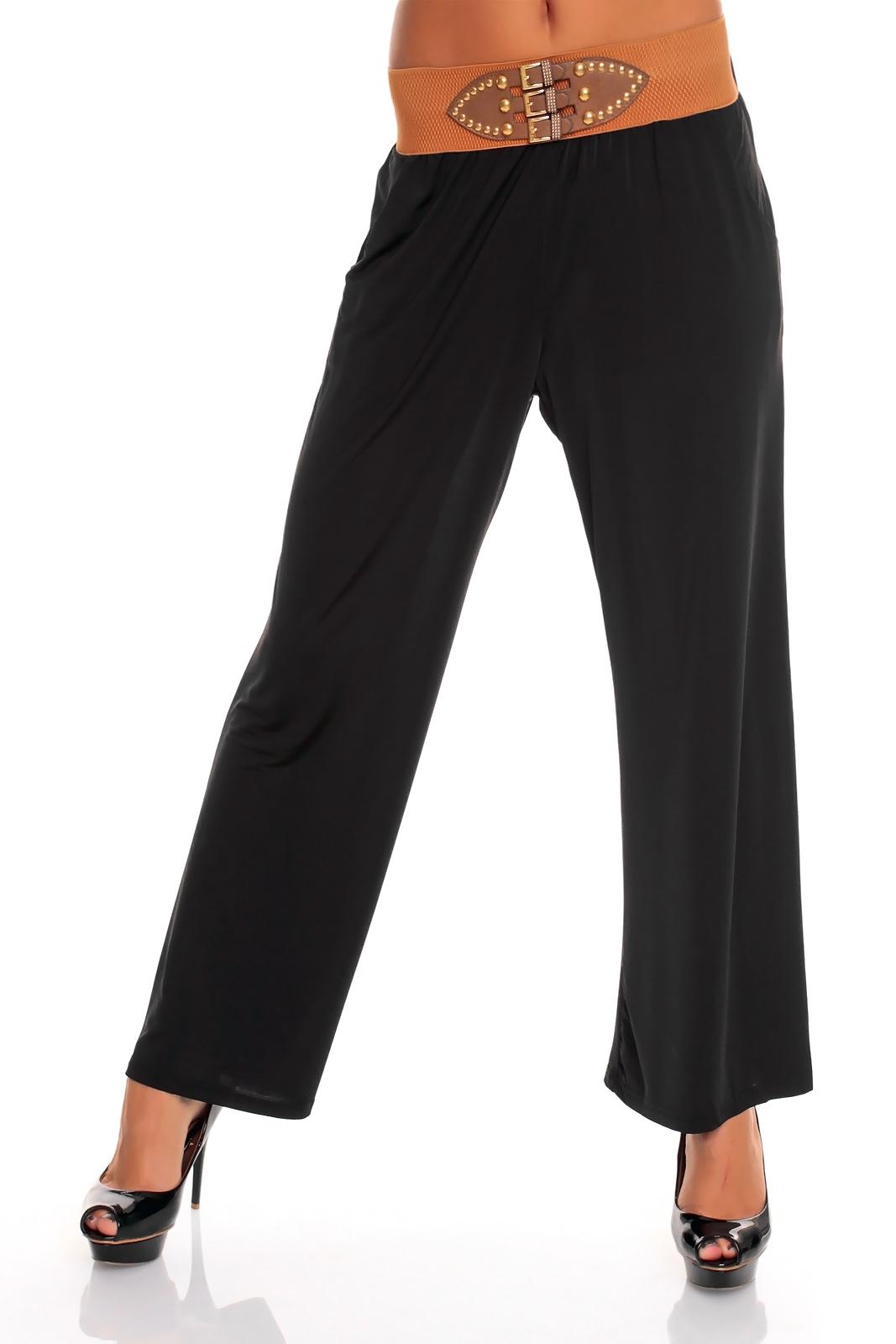 hose schlaghose pluderhose leggings businesshose weites bein 6 farben ebay. Black Bedroom Furniture Sets. Home Design Ideas