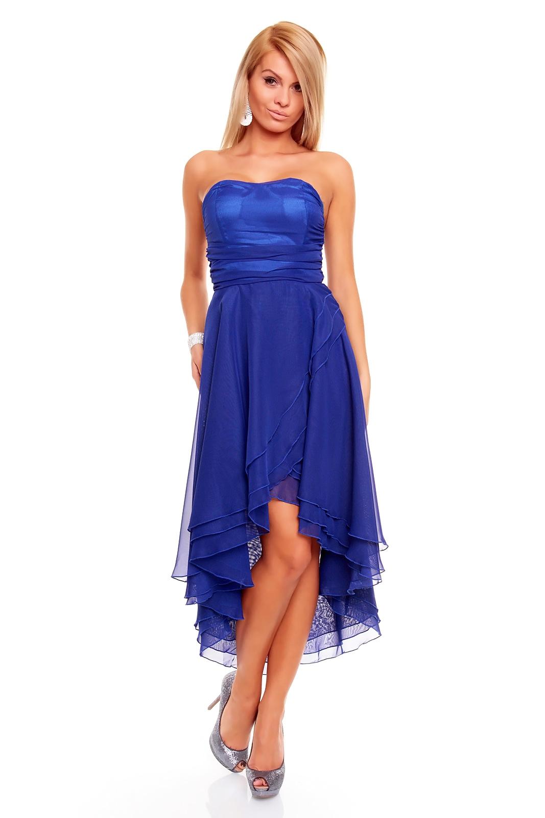 Knielanges Bandeau Kleid Ballkleid Abendkleid ...
