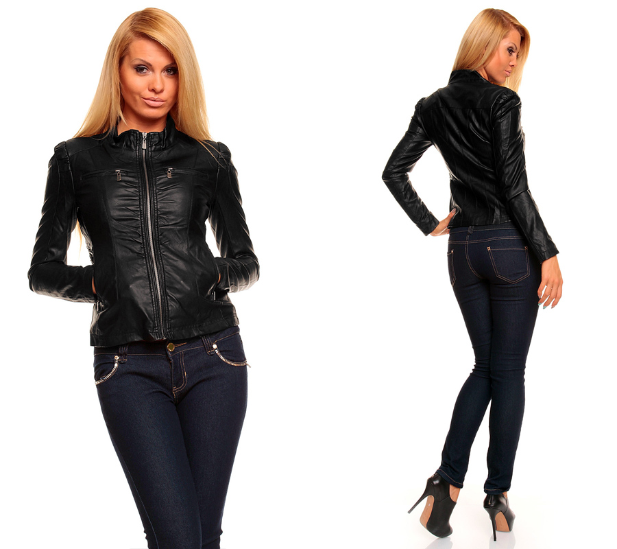 damen lederjacke aus lederimitat bikerjacke biker jacke blazer xs bis xxl ebay. Black Bedroom Furniture Sets. Home Design Ideas