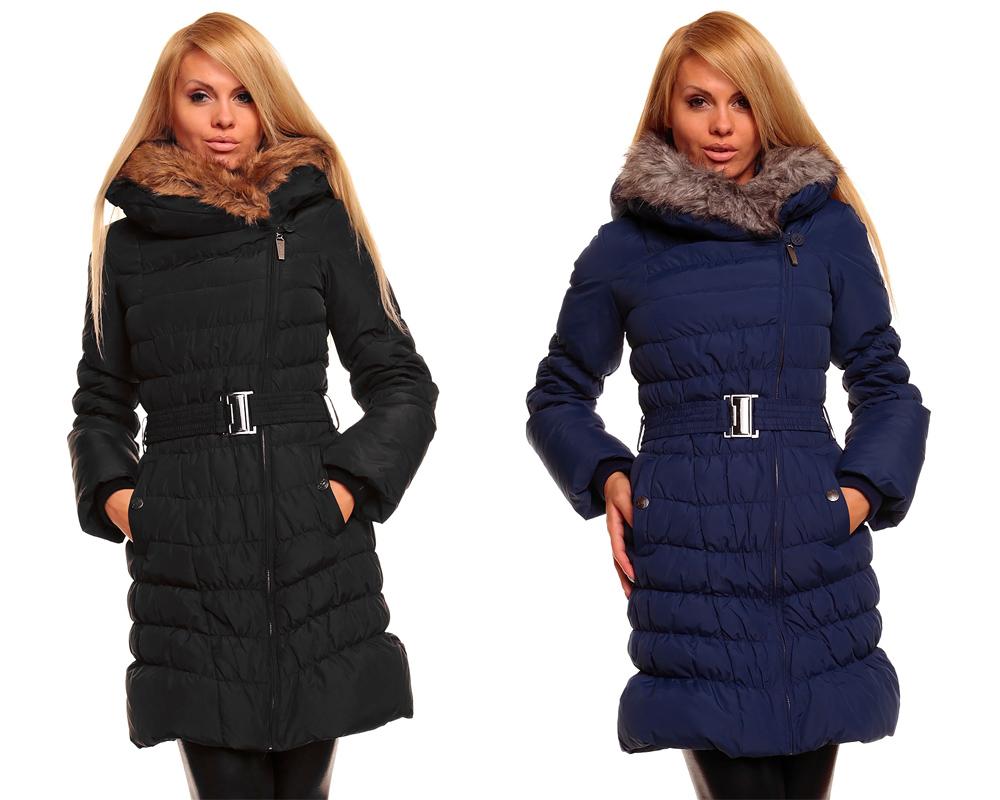 sublevel daunen steppmantel mantel wintermantel steppjacke mit fellkragen ebay. Black Bedroom Furniture Sets. Home Design Ideas