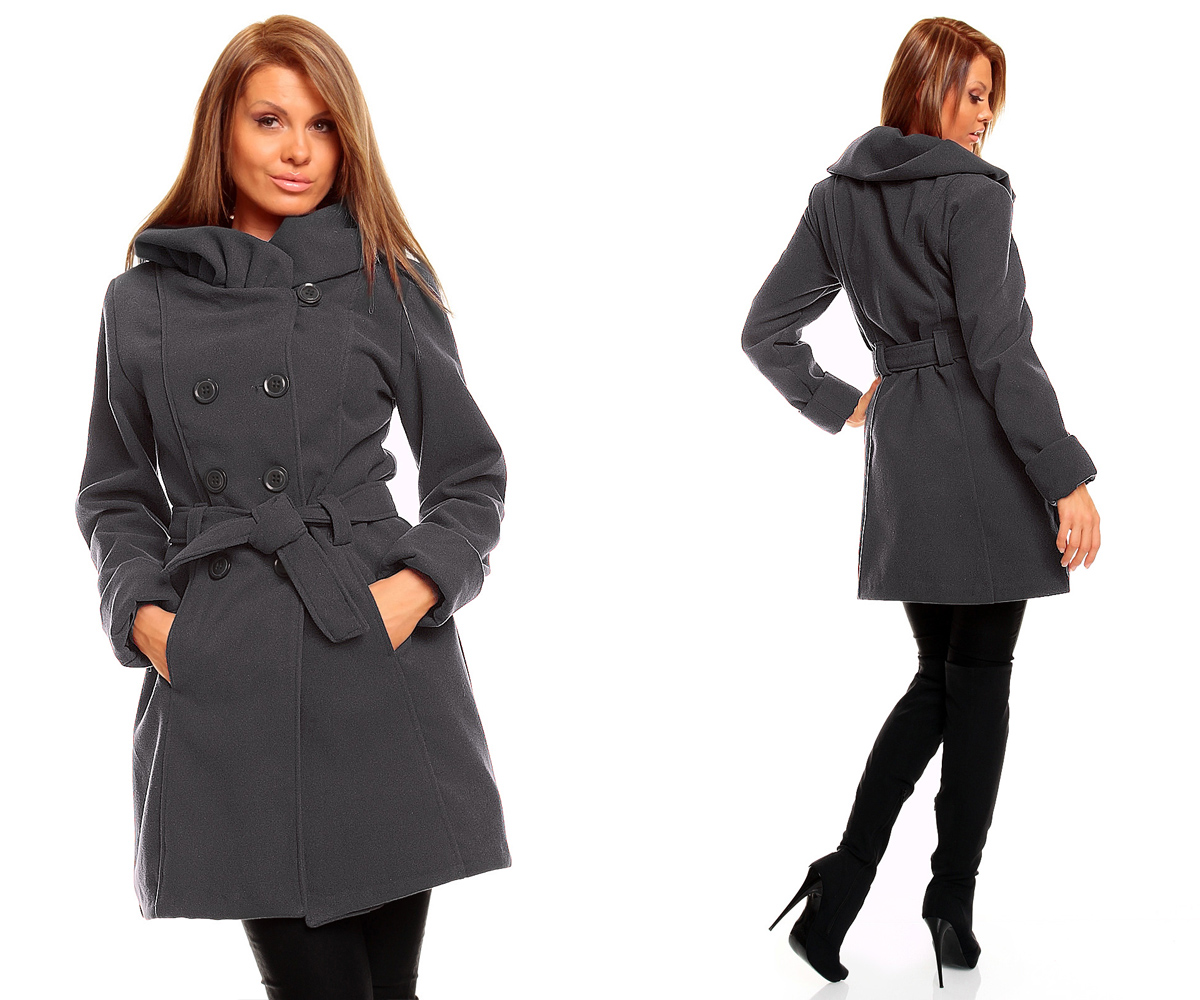 damen winter jacke mantel wolljacke wintermantel trenchcoat ebay. Black Bedroom Furniture Sets. Home Design Ideas