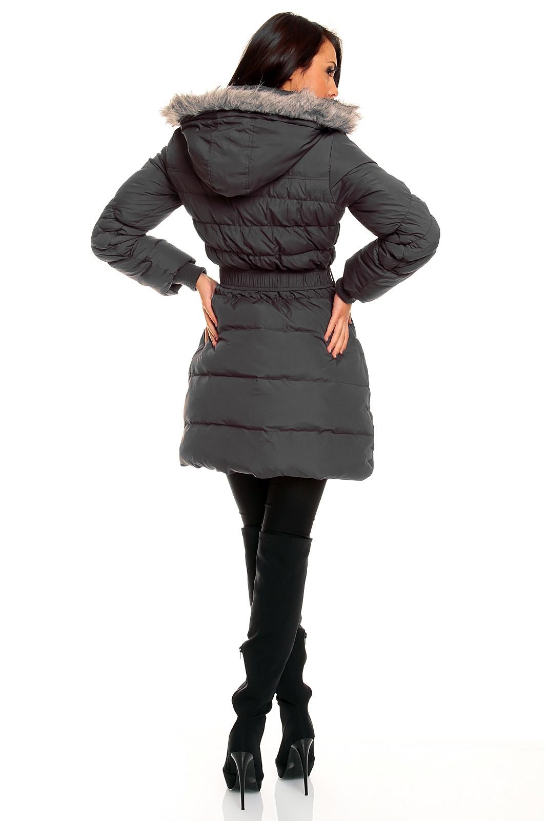 fresh made daunen steppmantel mantel wintermantel steppjacke mit kapuze ebay. Black Bedroom Furniture Sets. Home Design Ideas