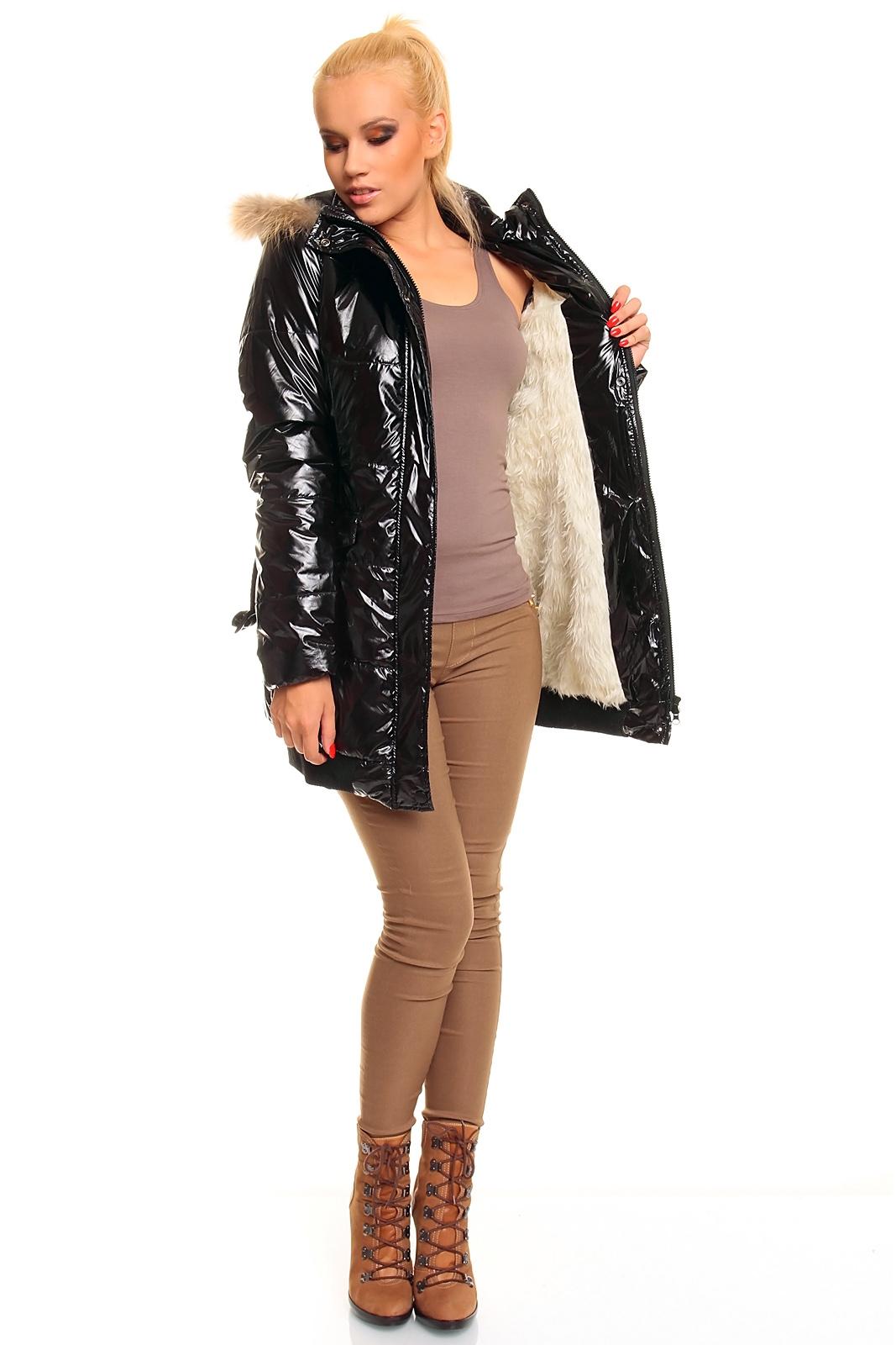 steppmantel mantel wintermantel steppjacke wetlook mit kapuze ebay. Black Bedroom Furniture Sets. Home Design Ideas