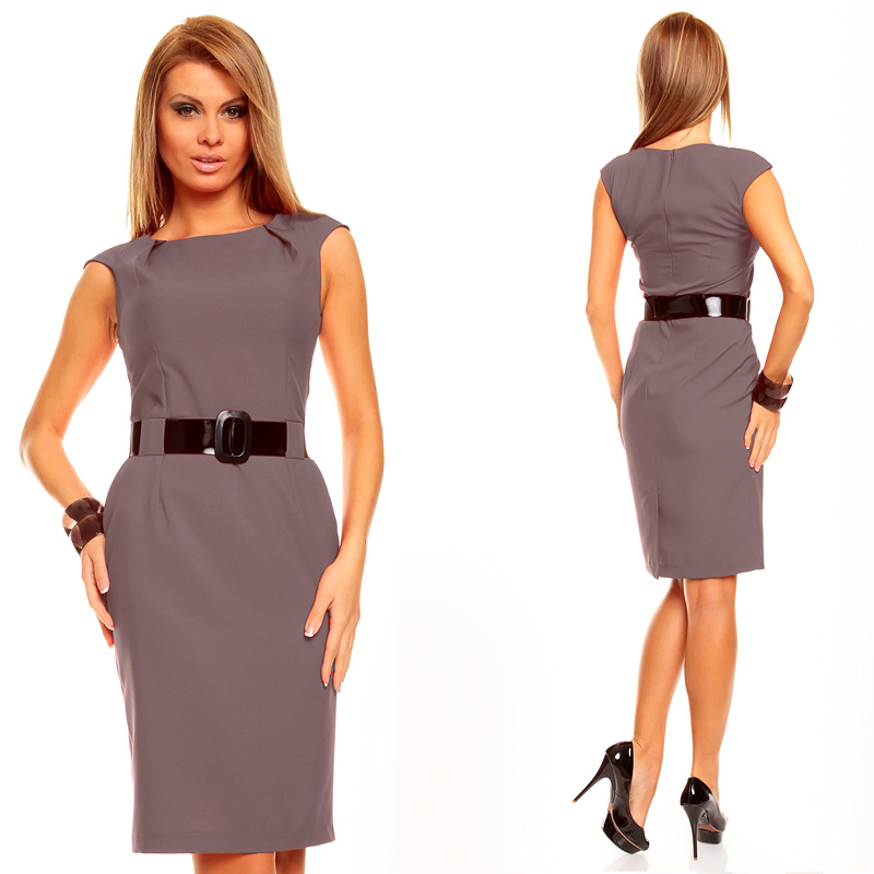 knielanges kleid businesskleid abdendkleid cocktailkleid festkleid ebay. Black Bedroom Furniture Sets. Home Design Ideas