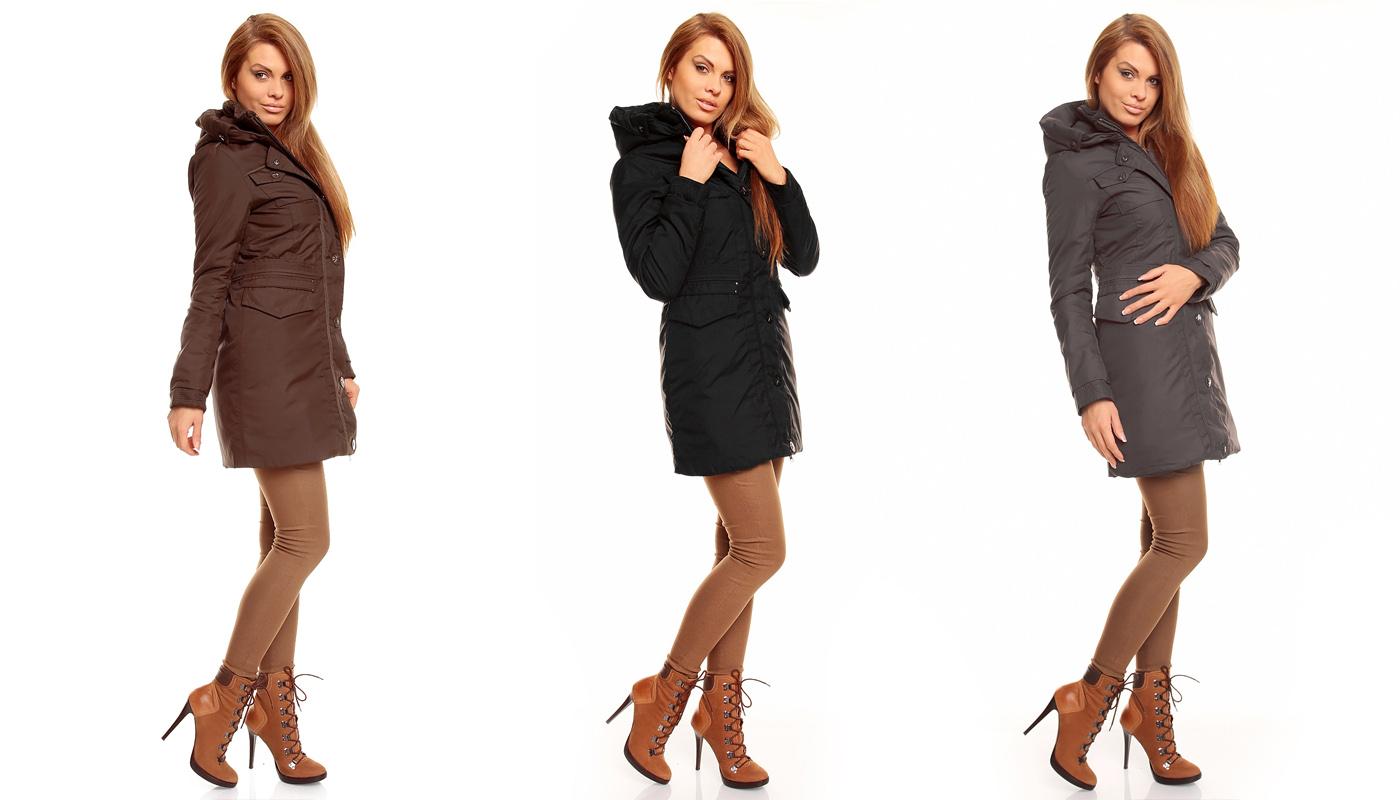 damen winter jacke mantel kurz mantel parka trenchcoat mit. Black Bedroom Furniture Sets. Home Design Ideas