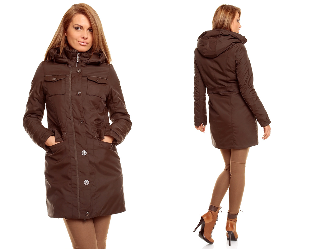 damen winter jacke mantel kurz mantel parka trenchcoat mit kapuze ebay. Black Bedroom Furniture Sets. Home Design Ideas