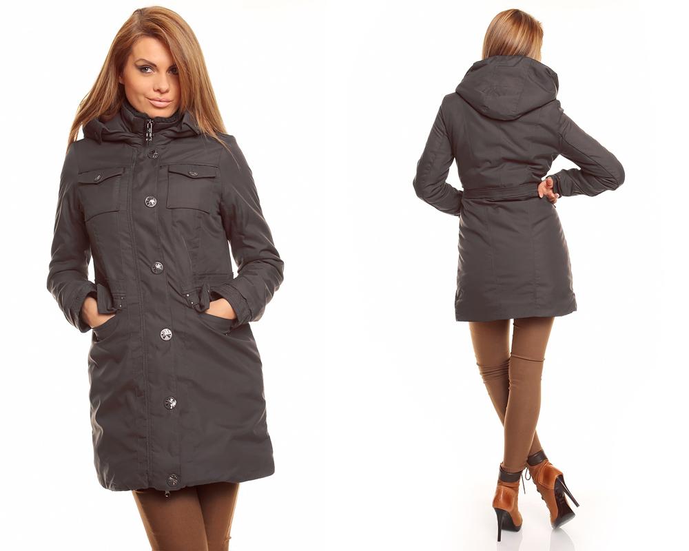 trenchcoat mit kapuze damen damen winter jacke mantel. Black Bedroom Furniture Sets. Home Design Ideas