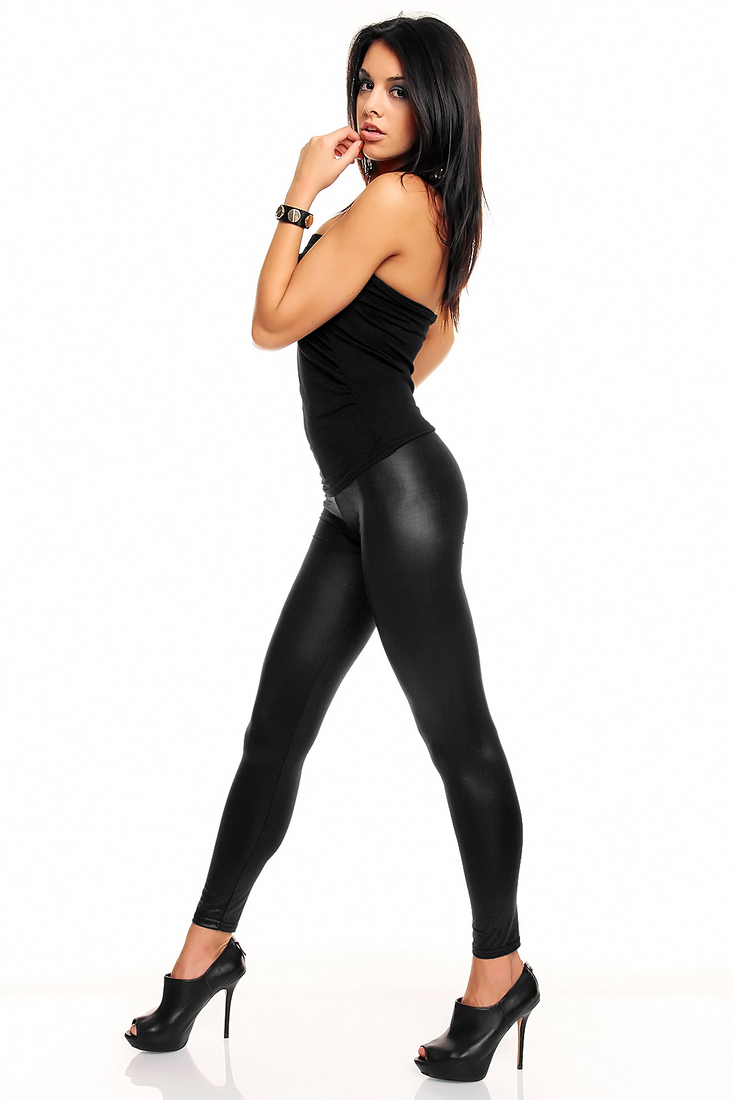 Wet look leggings india