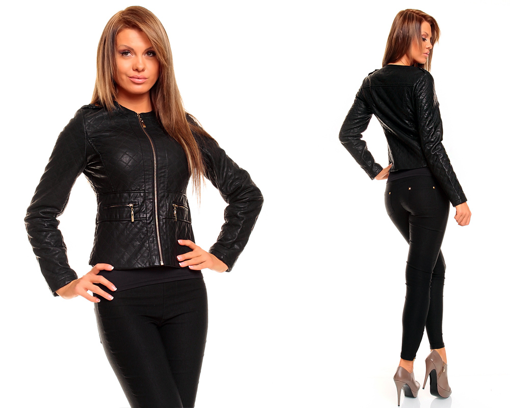 damen lederjacke aus lederimitat blazer biker jacke bikerjacke ebay. Black Bedroom Furniture Sets. Home Design Ideas