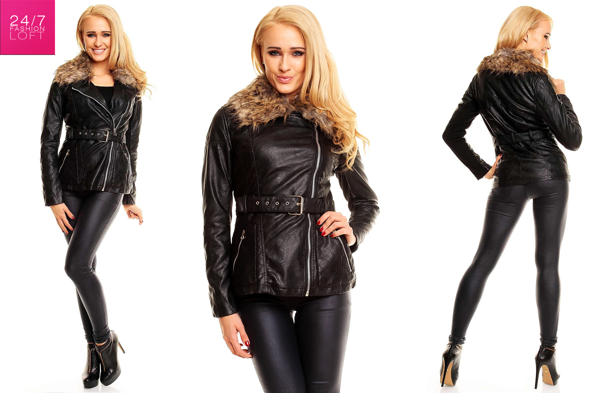 damen winter lederjacke aus lederimitat bikerjacke winterjacke jacke biker ebay. Black Bedroom Furniture Sets. Home Design Ideas