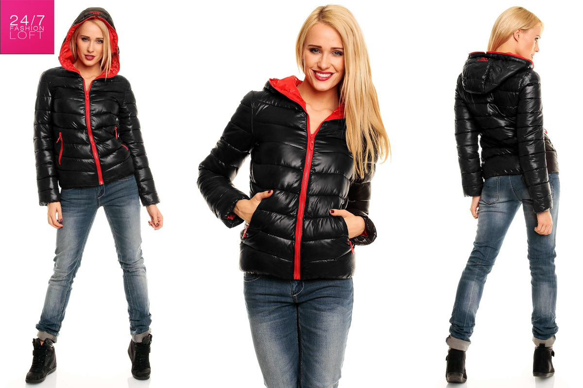 damen steppjacke winterjacke wetlook skijacke jacke bergangsjacke ebay. Black Bedroom Furniture Sets. Home Design Ideas