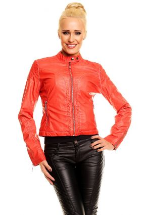 damen lederjacke aus lederimitat bikerjacke blazer jacke biker gp003 ebay. Black Bedroom Furniture Sets. Home Design Ideas