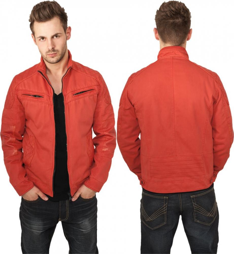 urban classics cotton leathermix racer jacket herren jacke. Black Bedroom Furniture Sets. Home Design Ideas