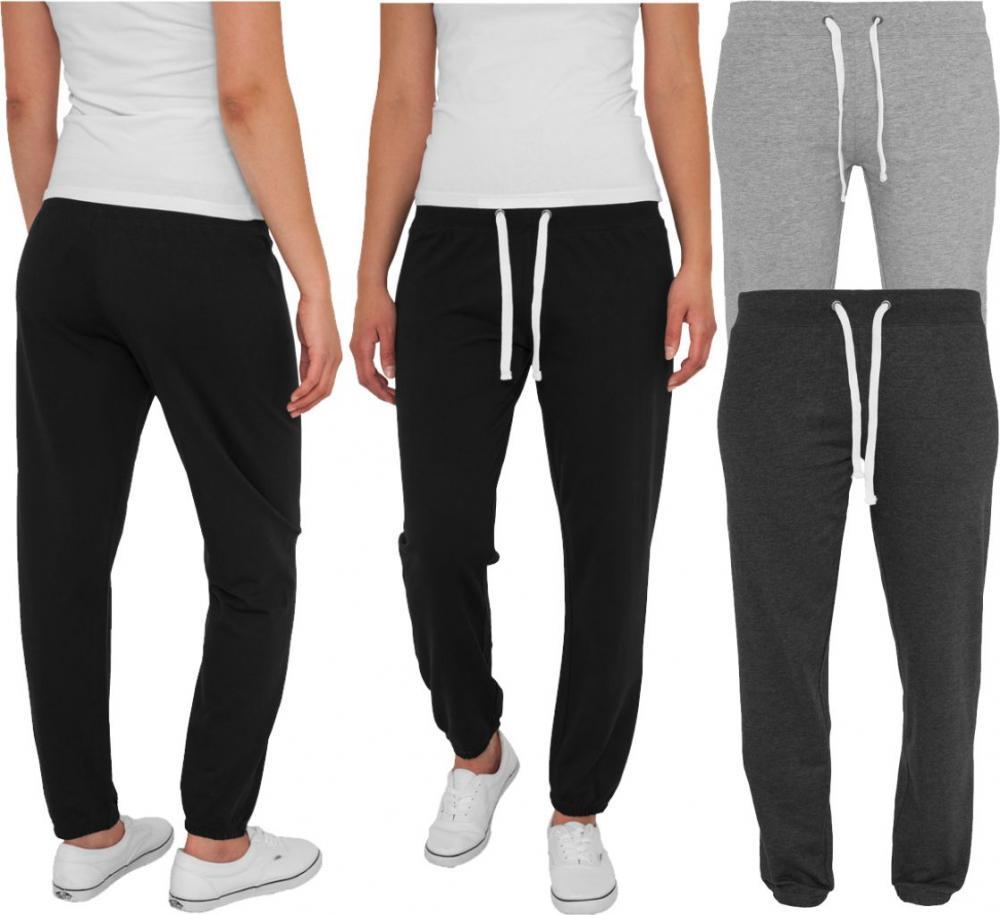 classics ladies fitted sweatpant damen jogginghose hip hop pant ebay. Black Bedroom Furniture Sets. Home Design Ideas