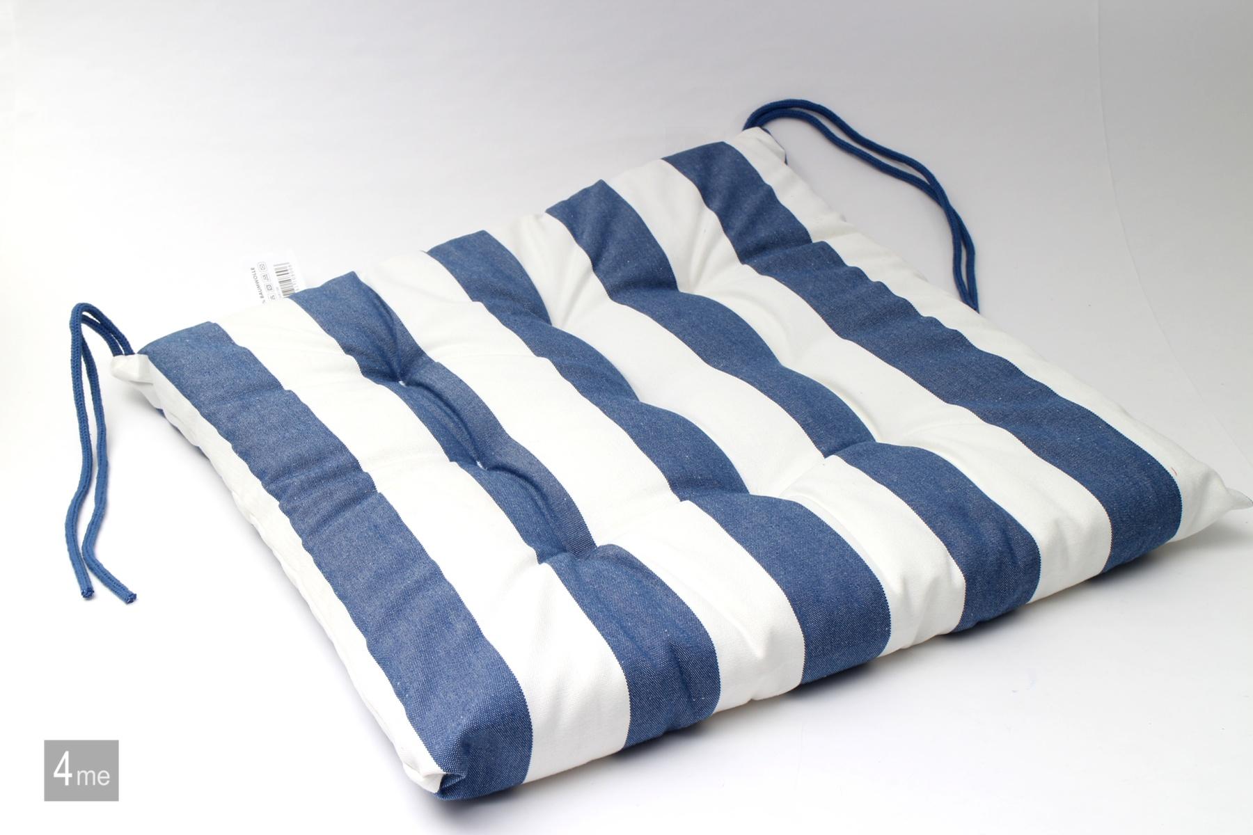 stuhlauflage thomas gestreift 40x40 versch farben 4er set sitzkissen kissen ebay. Black Bedroom Furniture Sets. Home Design Ideas