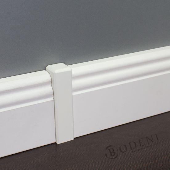 fussleiste altberliner profil 19x120mm mdf wei sockelleiste sockelleisten ebay. Black Bedroom Furniture Sets. Home Design Ideas