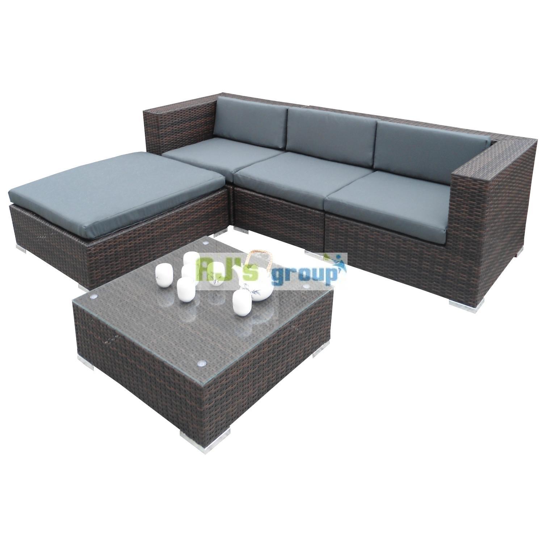 poly rattan gartenm bel houston alu garnitur lounge garten sitzgruppe gartenset ebay. Black Bedroom Furniture Sets. Home Design Ideas