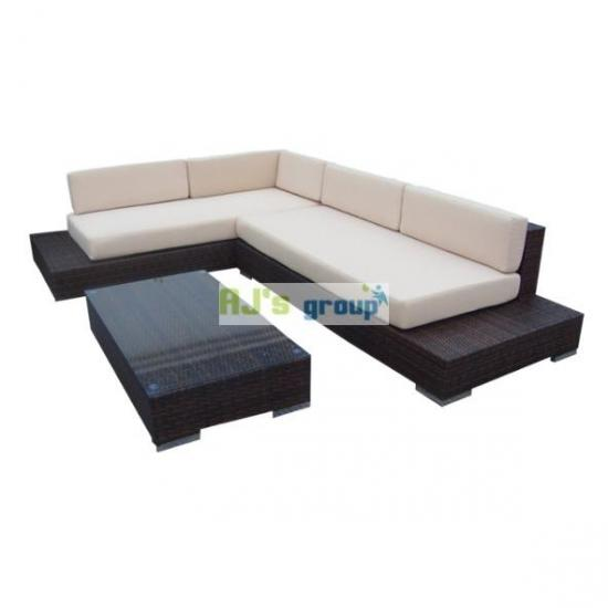 poly rattan gartenm bel kenia alu garnitur lounge garten sitzgruppe gartenset ebay. Black Bedroom Furniture Sets. Home Design Ideas