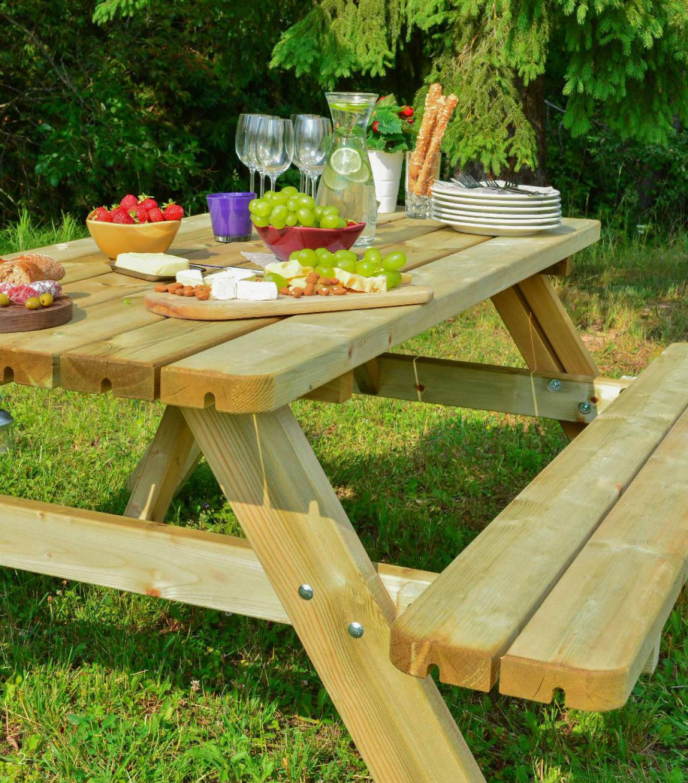 picknicktisch gartengarnitur sitzgruppe sitzgarnitur holz. Black Bedroom Furniture Sets. Home Design Ideas