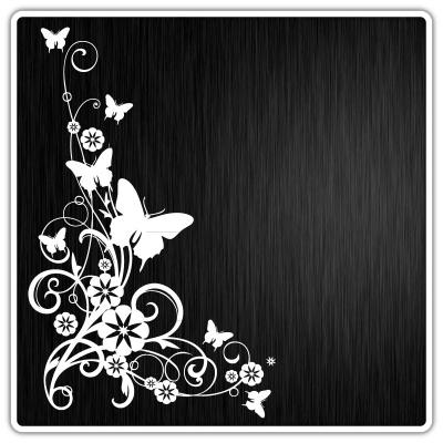 d048 florale muster zum verkleben f r scheiben w nde autos blumen sticker plot ebay. Black Bedroom Furniture Sets. Home Design Ideas