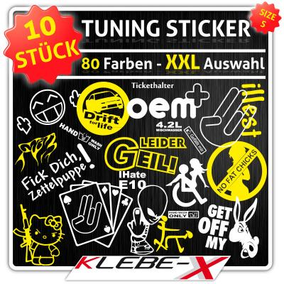 tuning sticker set 10 piece s handwash dub gscheid. Black Bedroom Furniture Sets. Home Design Ideas