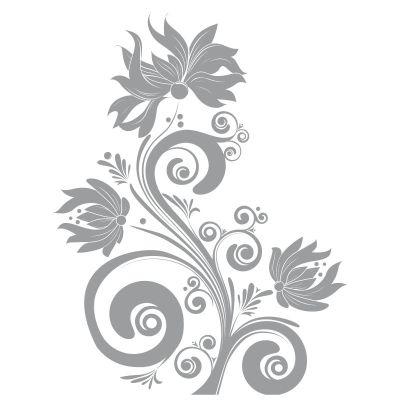 D021 pflanzen aukleber florale muster sticker tattoo for Pflanzen deko wand