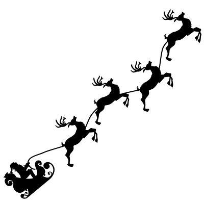 01a11 weihnachtsschlitten wandtattoo aufkleber. Black Bedroom Furniture Sets. Home Design Ideas