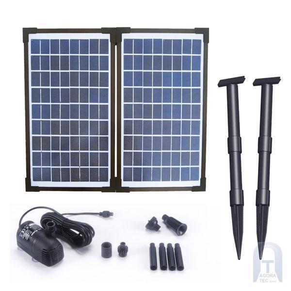 20 watt solar teichpumpe solarpumpe garten teich springbrunnen pumpe wasserspiel ebay. Black Bedroom Furniture Sets. Home Design Ideas