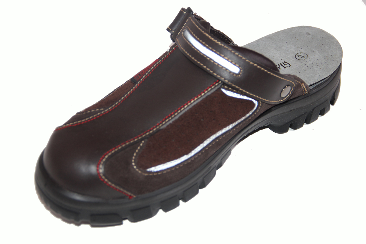 lkw sandalen trucker clogs schuhe mit stahlkappen sicherheitsschuhe gr e 43 ebay. Black Bedroom Furniture Sets. Home Design Ideas