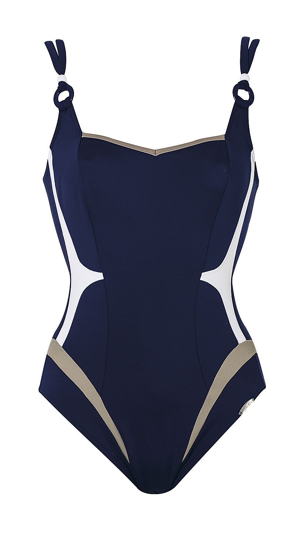 sunflair sailorgirl badeanzug beautyform gr 40 42 44 46 cup d e f marine ebay. Black Bedroom Furniture Sets. Home Design Ideas