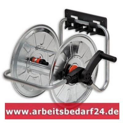Wand-Schlauchtrommel-50m-1-2-l-stationaer-und-tragbar-verzinkt-Wandschlauchhal