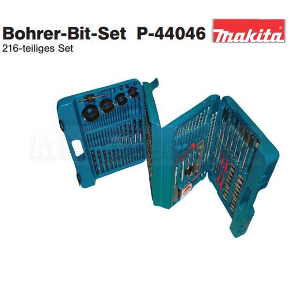 216 tlg makita bohrer bit set p 44046 bitsatz bohrersatz lochs ge ebay. Black Bedroom Furniture Sets. Home Design Ideas