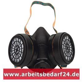 Profi Atemschutz Halbmaske mit Filtern A2, Gasmaske, Staubmaske Atemschutzmaske