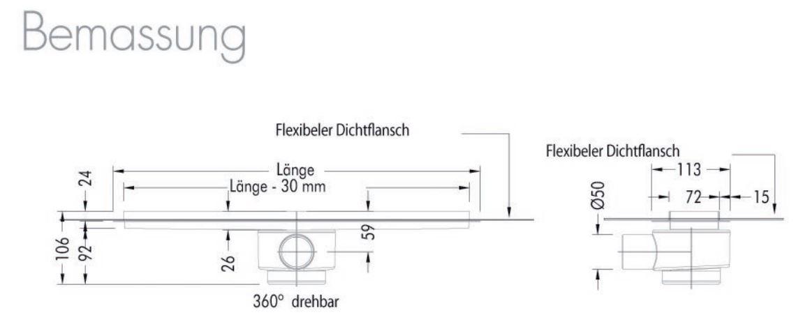 edelstahl duschrinne 1200mm ess komplett set easydrain zum verfliesen. Black Bedroom Furniture Sets. Home Design Ideas