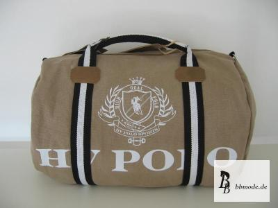 hv polo canvas sport bag bag sportsbag linen bag tan. Black Bedroom Furniture Sets. Home Design Ideas