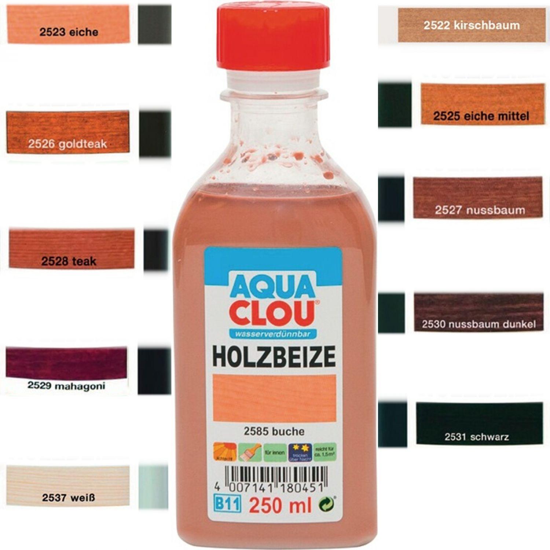 clou b11 aqua clou holzbeize 250ml verschiedenefarben ebay. Black Bedroom Furniture Sets. Home Design Ideas