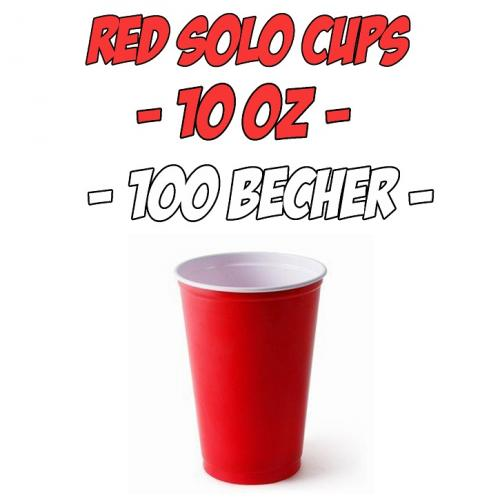 original rote partybecher red solo cups beer pong 10 oz 100 st ck ebay. Black Bedroom Furniture Sets. Home Design Ideas