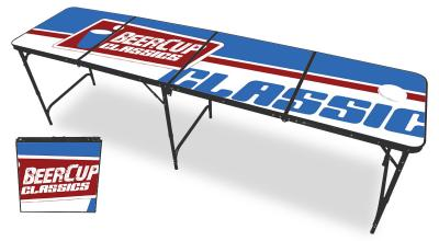 beer pong tisch logo table black line original bier pong regelma ebay. Black Bedroom Furniture Sets. Home Design Ideas