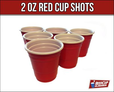 red cup shots schnapsgl ser 2oz 5cl beer pong becher party ebay. Black Bedroom Furniture Sets. Home Design Ideas