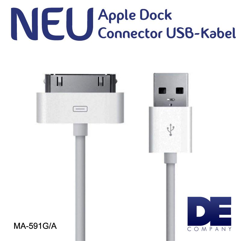 original apple datenkabel ma591 g a sync kabel ladekabel. Black Bedroom Furniture Sets. Home Design Ideas