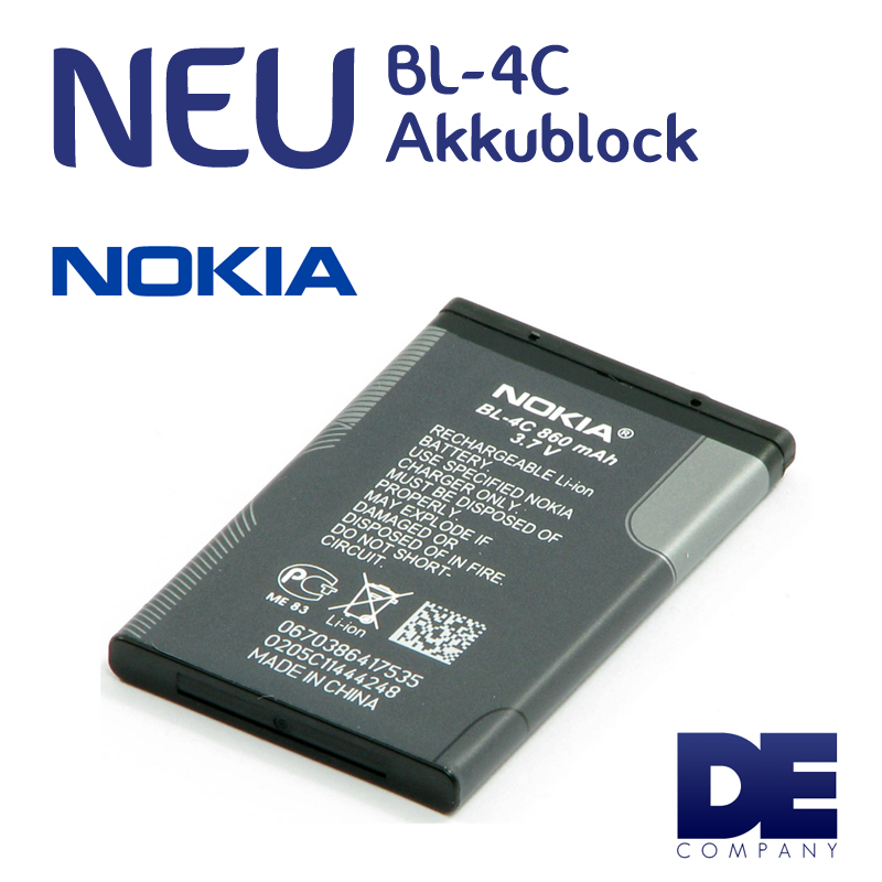 original nokia bl 4c akku batterie battery 6101 6125 6126. Black Bedroom Furniture Sets. Home Design Ideas