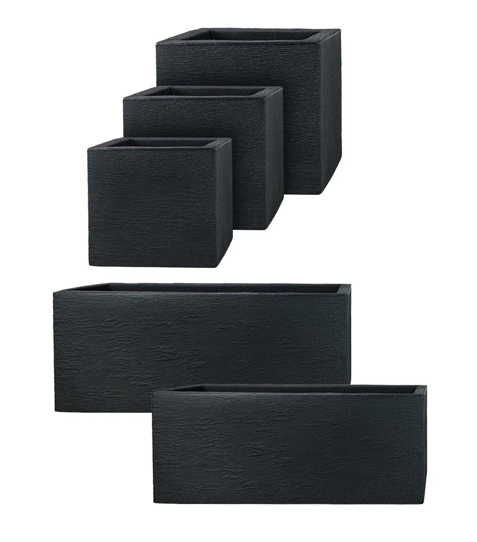 pflanzwerk pflanzk bel design kunststoff blumenk bel blumentopf anthrazit kubus ebay. Black Bedroom Furniture Sets. Home Design Ideas