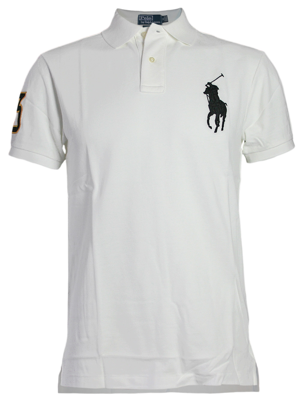 ralph lauren herren 3 big pony polo shirt wei neu ebay. Black Bedroom Furniture Sets. Home Design Ideas