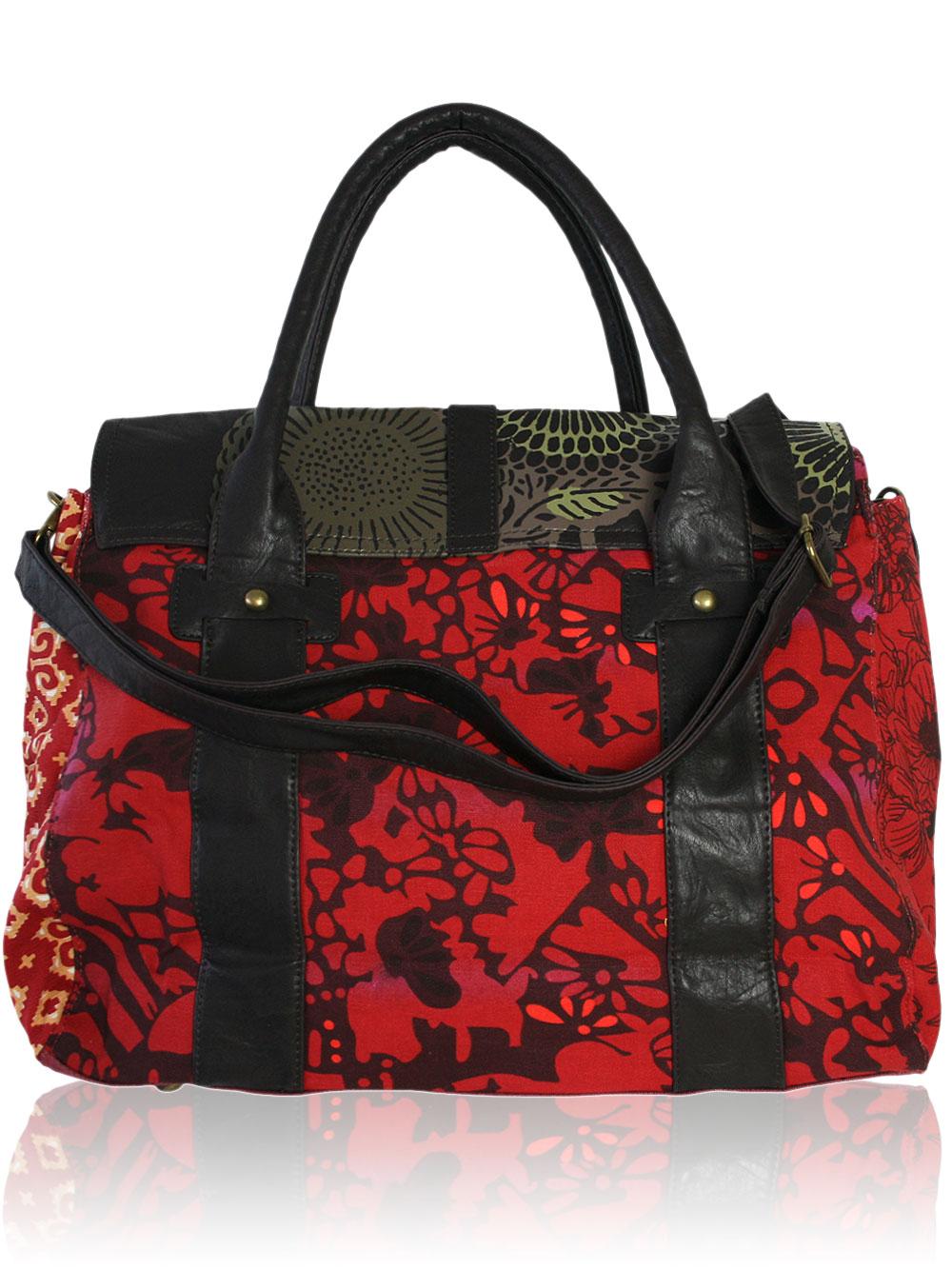 desigual damen handtasche granate big avator schwarz rot neu ebay. Black Bedroom Furniture Sets. Home Design Ideas