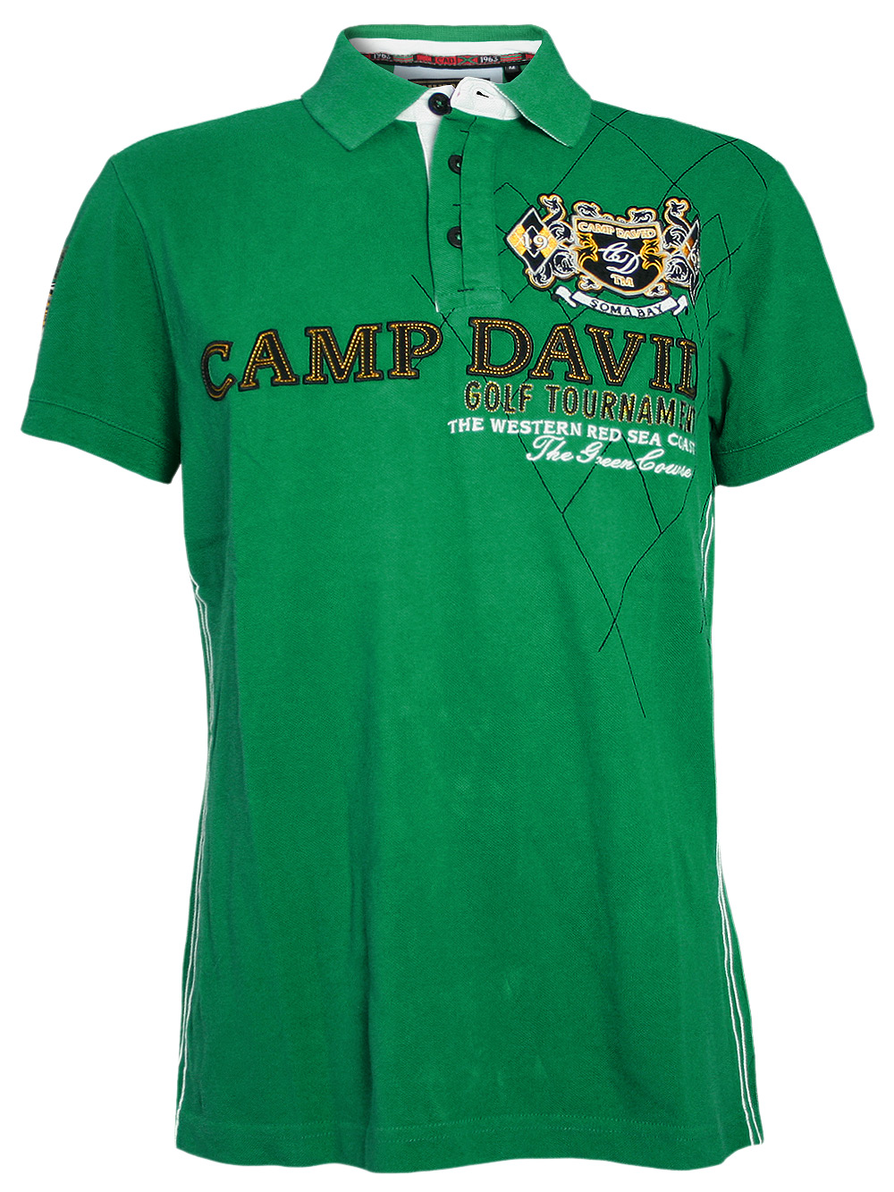 camp david herren polo shirt golf tournament gr n neu ebay. Black Bedroom Furniture Sets. Home Design Ideas