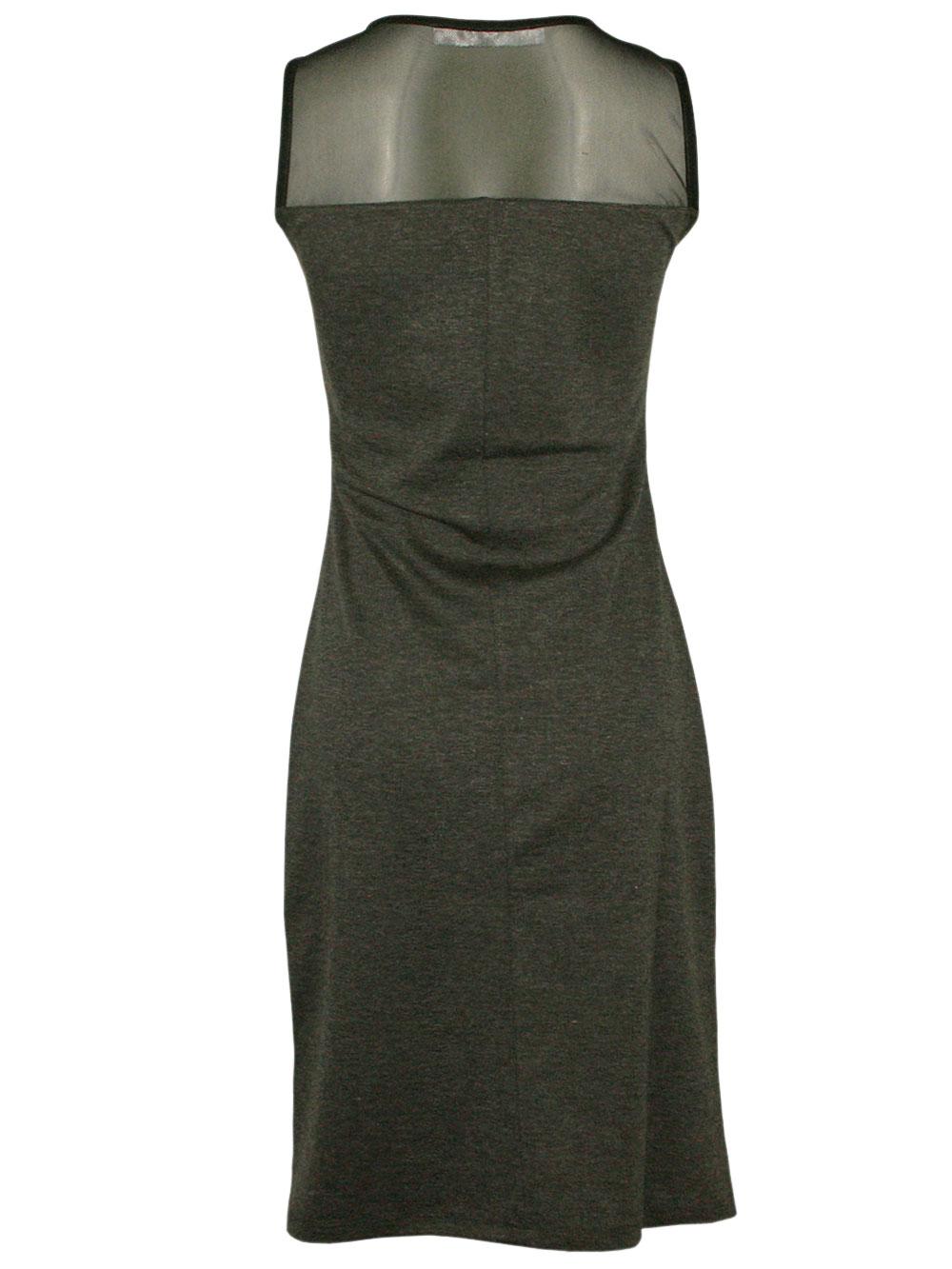 stylisches desigual damen designer dress kleid margaret in glaciar grey grau ebay. Black Bedroom Furniture Sets. Home Design Ideas